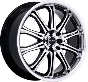 "17"" inch 5x4 5 5x120 Black Machined Wheels Rims 5 Lug Acura Honda Toyota Mazda"