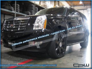 "Cadillac Escalade 22"" inch Wheels Rims in Gloss Black Finish Style Upgrade"