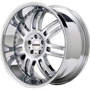 Momo ZUV Wheels 20x8 5 Chrome 4 Rims Cadillac Cts