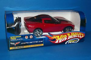 New Mattel Hot Wheels Red Corvette C6 Remote Control Car R C Toy