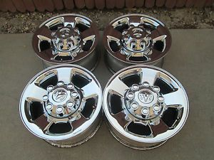 "17"" Dodge RAM 2500 3500 Factory Chrome Clad Alloy RAM Wheels Rims"