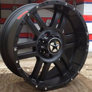 "Lonestar Matte Black Wheels 20 inch Ford F150 Truck 20"" Rims 6x135"