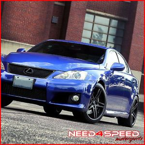 "20"" Lexus IS250 is350 Rohana RC5 Matte Black Concave Staggered Wheels Rims"