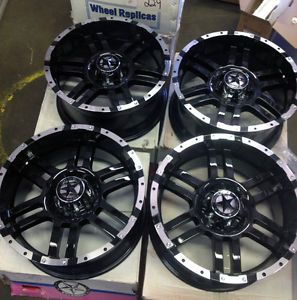 "Lonestar Gloss Black Wheels 20 inch Dodge Truck RAM 1500 20"" Rims 5x5 5"