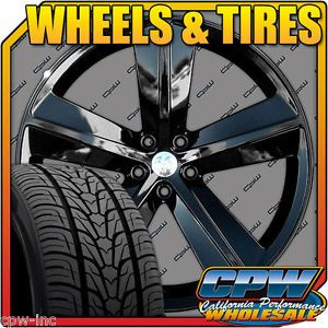 "22"" Dodge Charger Challenger Chrysler 300 SRT8 Wheels Rims Tires Package 22x9 5"
