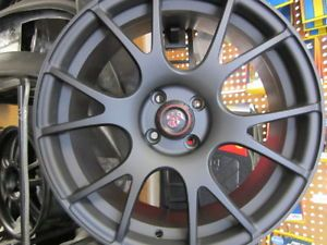 "Competizione Sport Tuning Wheels 17"" x7 5 Black 4x98 Fiat 500 Abarth"