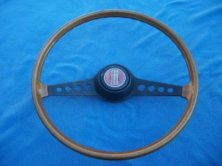 1970 1978 Fiat 124 Spider Simulated Wood Steering Wheel Very Nice Condition