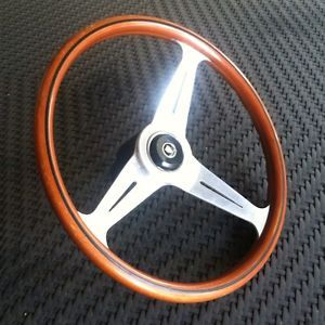 Vintage Nardi Jaguar Wooden Steering Wheel