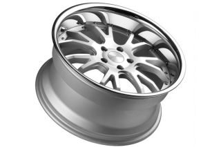 "20"" Infiniti G35 Coupe Stance ST1 Concave Silver Staggered Wheels Rims"