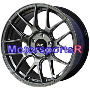 18 18x8 75 XXR 530 Chromium Black Concave Wheels Rims 5x100 03 12 13 Subaru WRX