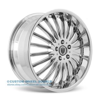"20"" Borghini B23 Chrome Wheels Fits Infinity Jaguar Lexus"