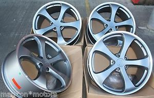 "22"" Gun Metal 5 Spoke Alloy Wheels Fits Porsche Cayenne"
