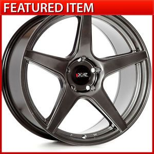 XXR 535 18 18x8 75 5 100 35 Chromium Black Wheels Rims Subaru WRX Scion TC FRS