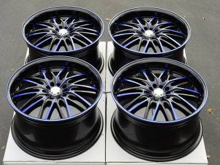 "18"" Blue Wheels Rims 5x100 Cavalier PT Cruiser Sebring Neon Stratus Scion TC XD"