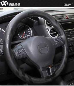 Black Leather Steering Wheel Wrap Cover w Needle Thread DIY Scion TC XB VW Golf