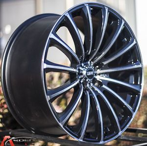19x8 5 9 5 Str 611 5x100 Black Wheel Fit Scion TC XD Fr s BRZ 2013 Staggered Rim