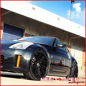 "20"" Nissan Altima Rohana RC20 Deep Concave Black Staggered Wheels Rims"