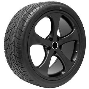 "22"" Matte Black Wheels Rims and Tires for 2013 VW Touareg Fits Other Years"