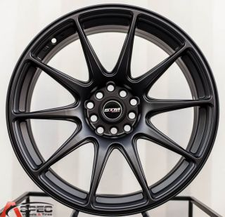 18x8 75 STM 5x100 20 Matt Black Concave Rims Wheel Scion TC XD Fr s GT86 2013