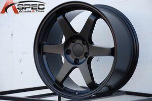 18x8 5 Varrstoen ES221 5x100 45 Black Wheel Fit Subaru WRX BRZ Scion Fr s 2013