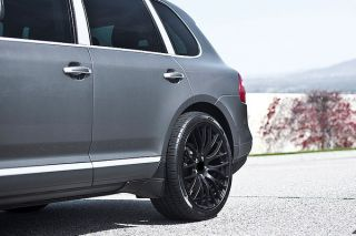 "22"" MRR HR6 Matte Black Concave Wheels Rims Fits Porsche Cayenne s Turbo"