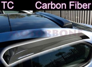 Scion TC 05 10 2D Coupe Rear Window Roof Visor Spoiler Lip Real Carbon Fiber New