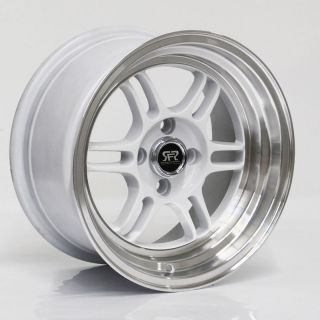 Set of 4 RFR06 White Wheels 15x8 4x100 VW BMW E30 Honda Civic CRX Scion Mazda
