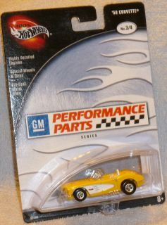Hot Wheels '58 Chevy Corvette  GM Performance Parts Real Riders