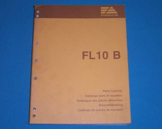 Fiat Allis Parts List Catalog FL10B Crawler Loader 1988