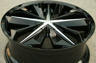 Metal FX7 20 x 8 0 Black Rims Wheels Honda Pilot 02 08 5H 40