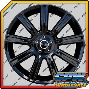 "Set of 4 Range Rover Evoque Wheels Rims 20"" inch Gloss Black Option Style NIB"
