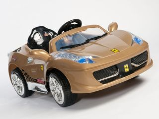 12V Ferrari Bambini Italia 458 Style Ride on Power Kids Wheels Car  RC Remote