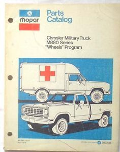 1975 1977 Dodge Army Truck Parts Catalog Manual Original M880 Series Mopar