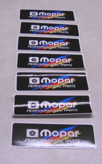 Mopar Performance Parts Sticker Decal NHRA Racing Chrysler Logo Dodge Plymouth