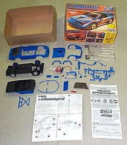 MPC 1983 Chevy Camaro Z 28 Model Kit Open Started Parts