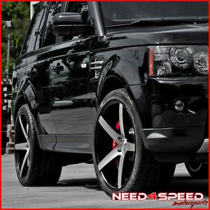 "22"" Land Rover Range Rover Sport 22x10 5 Concave Machined Wheels Rims"