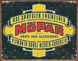 Nostalgic Tin Metal Sign Mopar Parts Dodge DeSoto New