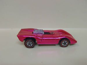 1970 Red Line Hot Wheel Ferrari 312P Hot Pink USA