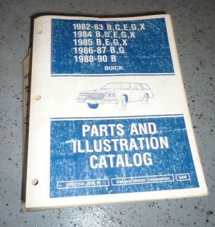 Grand National GNX G Body Buick Regal GM Dealer Illustrated Parts Catalog Books