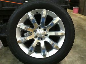 2011 2013 Buick Enclave 20 inch Aluminum Wheel and Tire Package