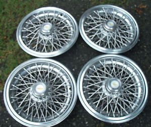 "Vintage GM 15"" Wire Wheel Covers Olds Cadillac Pontiac Chevy Buick"