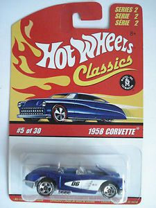 Hot Wheels 1958 Chevy Corvette Classics Series 2 No 5 of 30 Scale 1 64 2005