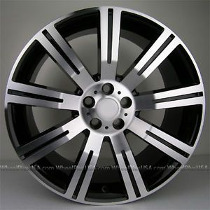 "20x9 5 20"" Range Rover HSE Sport Turbo Stormer Style Wheels Rims Black Machined"