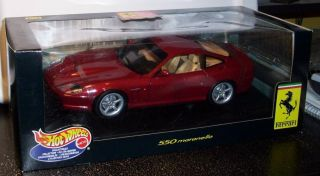 Hot Wheels Collectibles 1 18 Scale Ferrari 550 Maranello Mint in Box