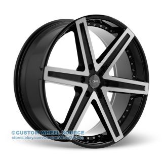 "24"" Dcenti DW6 Black Wheel and Tire Package for Dodge Ford GMC Hummer Lincoln"
