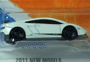 Hot Wheels Lamborghini Gallardo LP 570 4 Superleggera White 2011 New Models RARE 027084944358