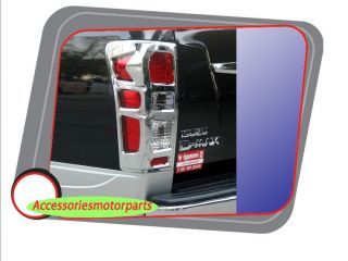 Chrome Tail Light Lamp Back Cover Trim for All New Isuzu D Max 2012