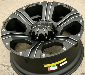 "Ballistic Off Road Outlaw 902 20"" Black Rims Wheels Hummer 20 x 9 0 8H 12"