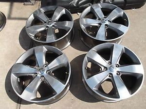 "20"" Jeep 2014 Grand Cherokee Overland Factory Polished Wheels Rims Durango"