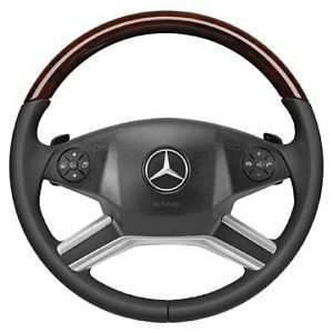 Mercedes Benz Wood Leather Steering Wheel